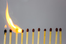 Chain Reaction Of Matches Ligh...