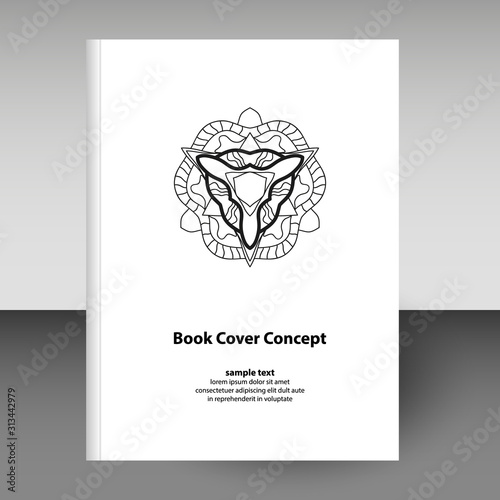 Fényképezés vector cover of diary or notebook hardcover - format A4 layout brochure concept