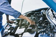 Asian Man Mechanic Inspection ...