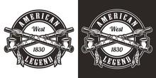 Vintage Wild West Round Badge