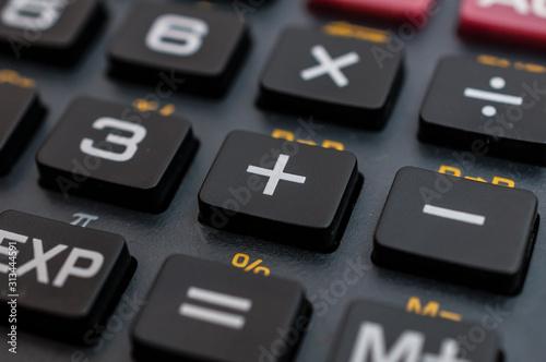 Fotomural  Taschenrechner Buchhaltung