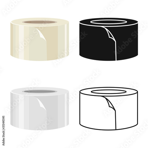 Fotomural Vector design of scotch and tape logo