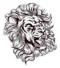 An Illustration Of A Lion Roar...