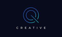 Initial Q Letter Logo Design Vector Template