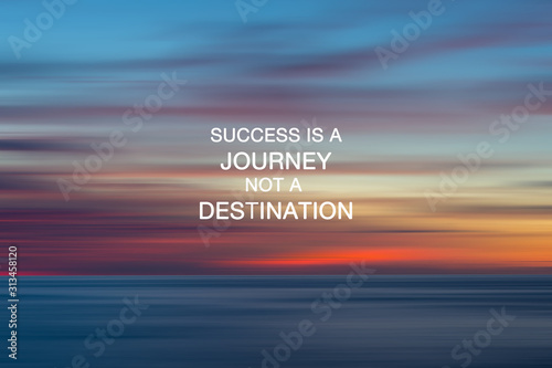 Fotomural  Inspirational Quotes - Success is a journey not a destination.