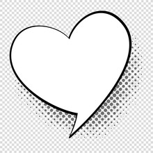 Comic Speech Heart. Cartoon Ta...