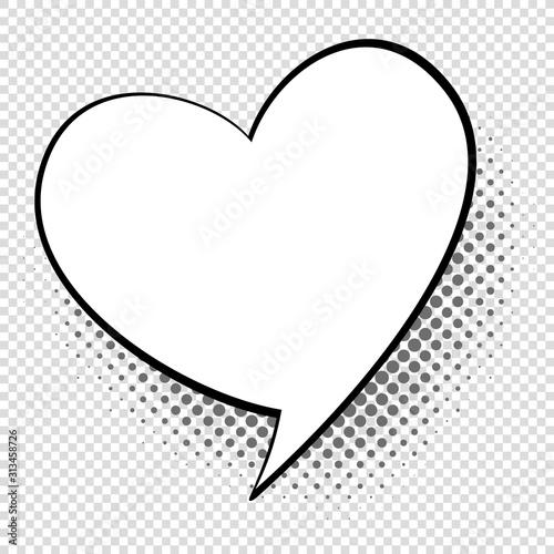 Foto Comic speech heart