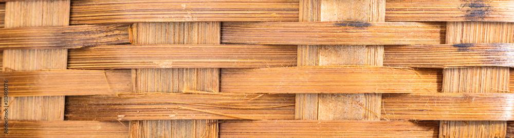 Fundo com trançado de bambu