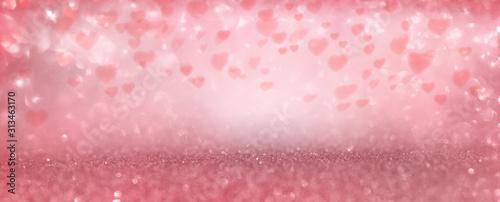 Photo Pink valentines day background