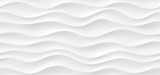 White abstract wavy texture. Seamless modern pattern with waves.