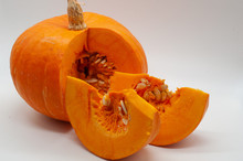 Pumpkin Cut Out On White Backg...