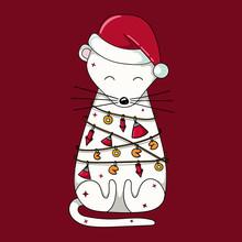 Chinese New Year Of Rat Illust...
