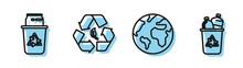 Set Line Earth Globe, Recycle ...