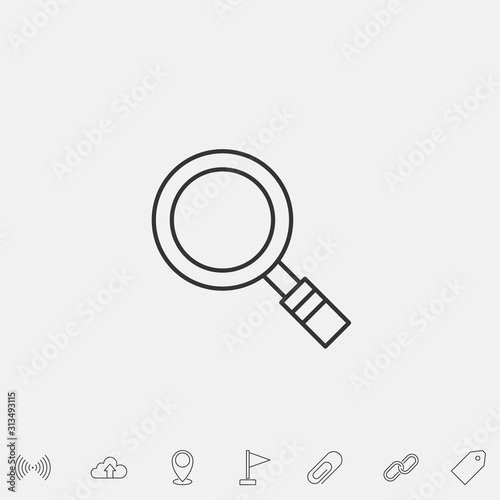 Fototapeta magnifier icon vector illustration symbol obraz na płótnie