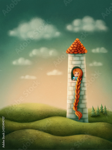 Photo  Rapunzel in the tower
