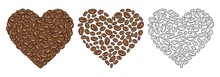 Coffee Beans Composition Heart...