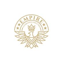 Eagle Crown Vintage Emblem/bad...