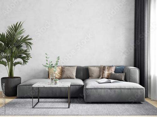 Fototapeta Interior Wallpaper Mockup obraz