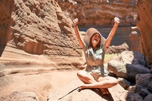 Young Beauitufl Hiker Woman Tr...