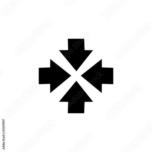 Valokuvatapetti Arrow shrink icon