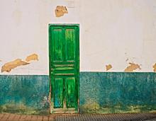 Beautiful Old Green Door In An...