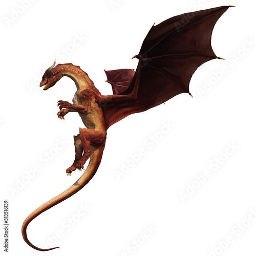 Red dragon Fotobehang