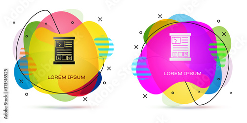 Color Game guide icon isolated on white background Canvas Print