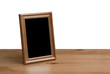canvas print picture - photo frame on table