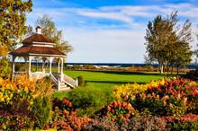 Gazebo And Garden On Mackinac ...