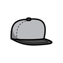 Cartoon Flat Brim Hat Illustration