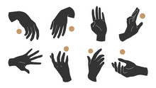 Hand Icon, Hands Linear Style ...