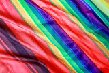 Fototapeta Tęcza - Rainbow colored striped cloth background