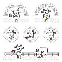 可愛い牛のロゴ