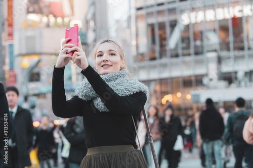 Fotografia 日本・東京・渋谷を観光する女性