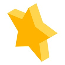 Gold Star Icon. Isometric Of Gold Star Vector Icon For Web Design Isolated On White Background