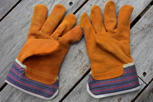 Pair Of Work Gloves Made From ...