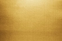 Gold Paper Texture Background. Golden Metallic Blank Paper Sheet Surface Smooth Reflection