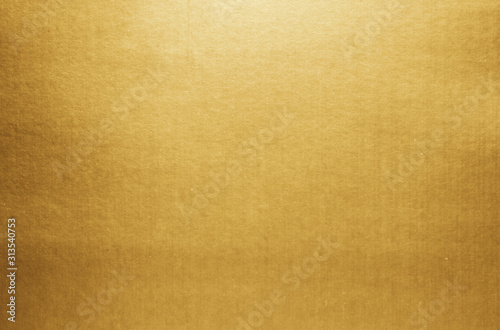 Obraz Gold paper texture background. Golden metallic blank paper sheet surface smooth reflection - fototapety do salonu