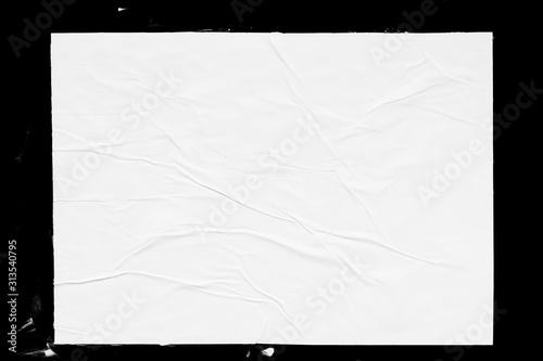 Fototapeta Poster mockup isolated on black background