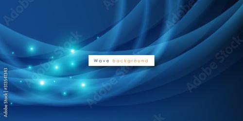 Obraz Abstract light waves vector background - fototapety do salonu