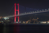 Night photo of Istanbul Bosphorus Bridge