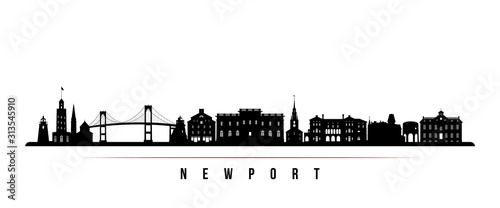 Cuadros en Lienzo Newport skyline horizontal banner
