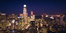 San Francisco Skyline Illuminated At Night