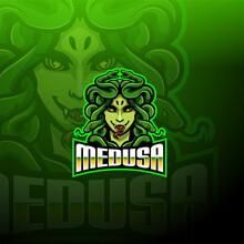 Medusa Esport Mascot Logo Design