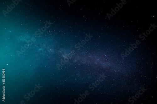 Milky way,galaxy,cosmos on dark sky - 313550954