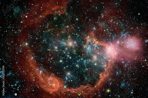 Fototapeta Gwiazdki  far-being-shone-nebula-and-star-field-against-space-starfield-stardust-and-nebula-space-galaxy