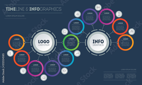 Fotografía Presentation or infographics with 11 steps