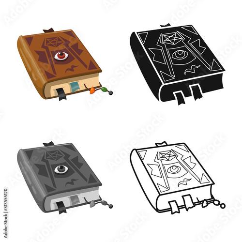 Obraz na plátně Vector illustration of book and manuscript symbol