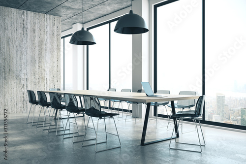 Obraz Concrete conference room interior - fototapety do salonu
