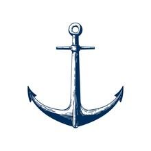 Classic Marine Anchor Vector I...